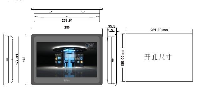 eView ET100尺寸图